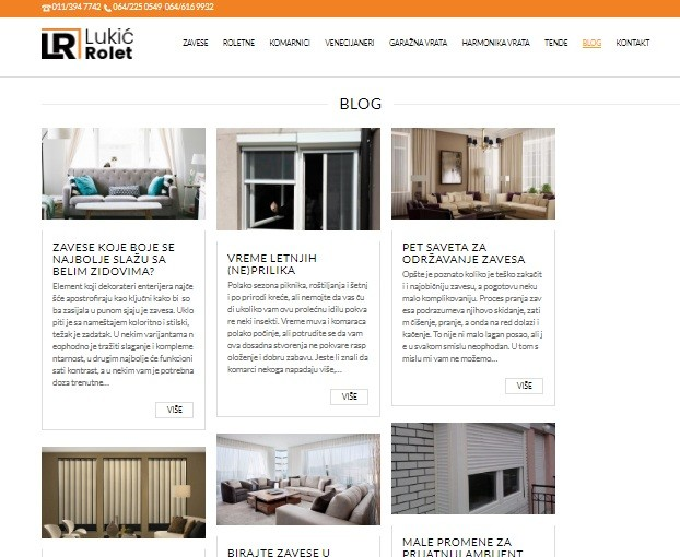 Proces link building - a za sajt Lukić Rolet