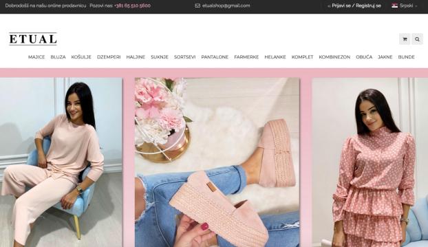 izrda web prodavnice butika etual