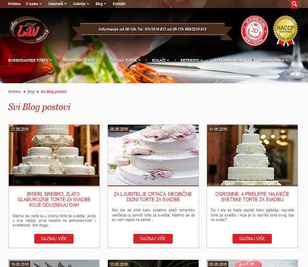 Integrisani internet nastup za Lav cakes