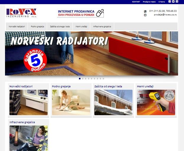 SEO optimzacija za sajt Rovex