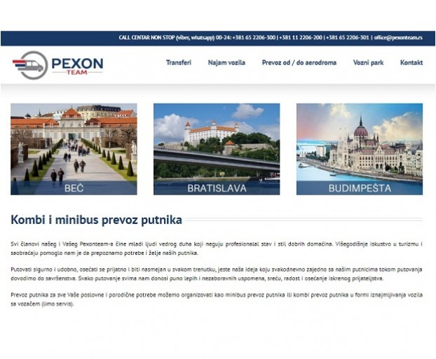 SEO optimizacija sajta Pexonteam