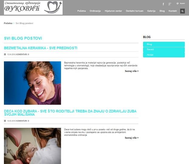 Integrisani internet nastup za sajt stomatološke ordinacije