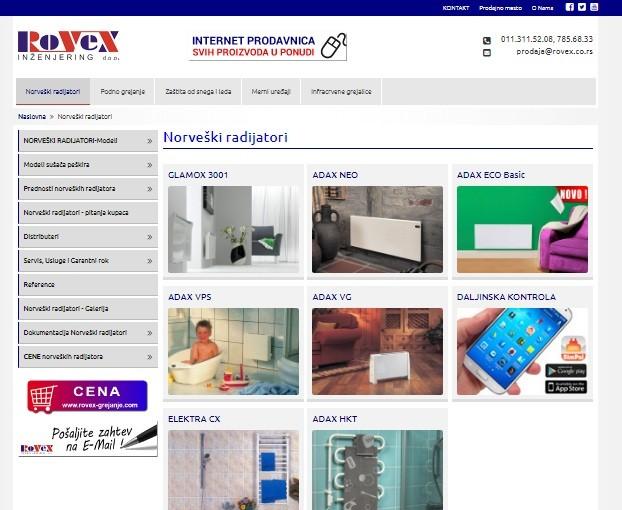 SEO Optimizacija sajta Rovex