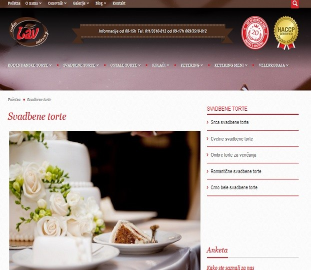 SEO optimizacija za sajt Lav cakes