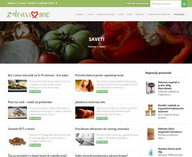Izrada sajta Zdravisimo