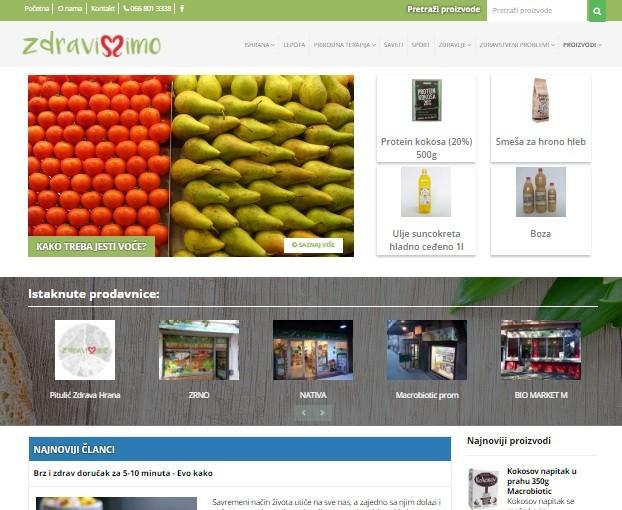 Izrada i optimizacija sajta Zdravisimo