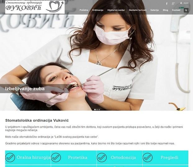 Izrada web sajta za stomatološku ordinaciju Vuković