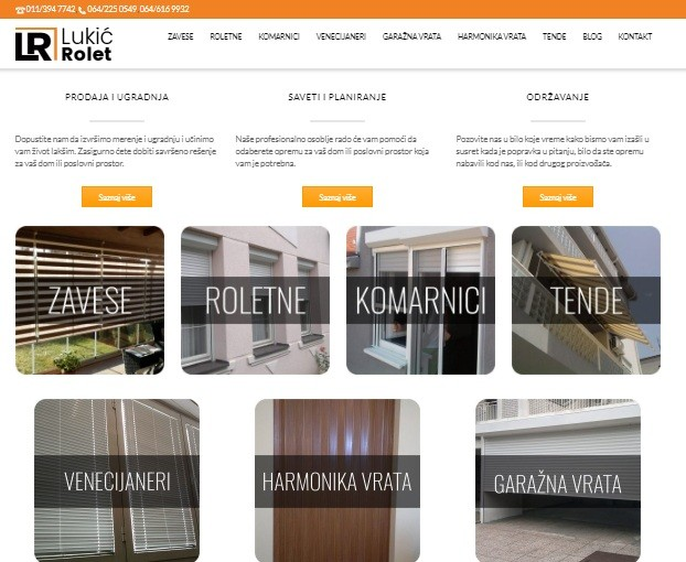 Optimizacija sajta Lukić Rolet