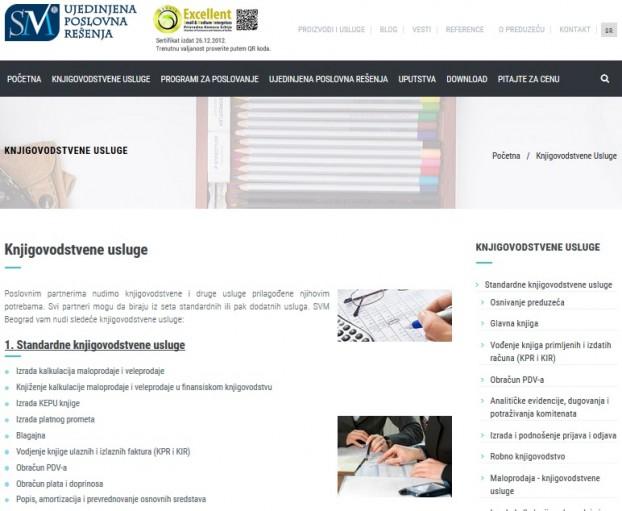 SEO optimizacija za web sajt agencije SVM