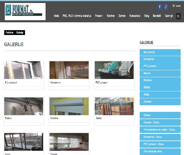 Izrada web sajta Format Alde