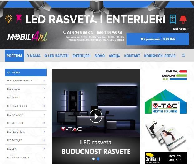 Izrada internet prodavnice za sajt Mobiliart