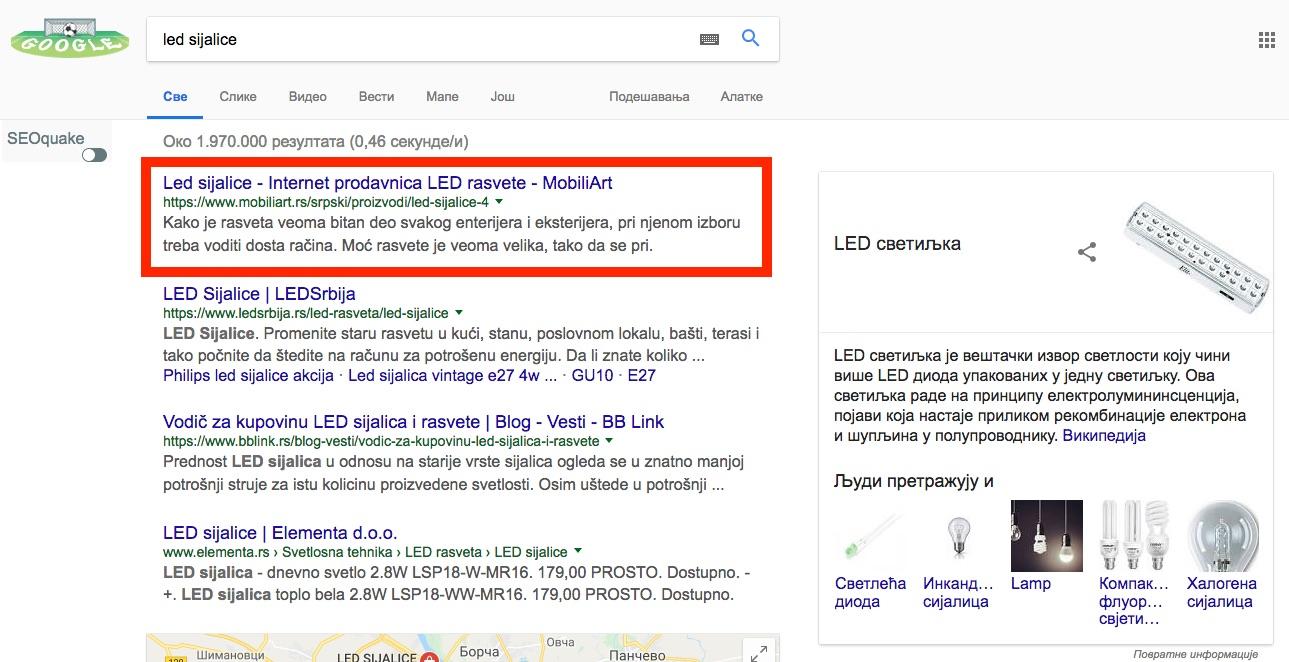 led sijalice google pretraga